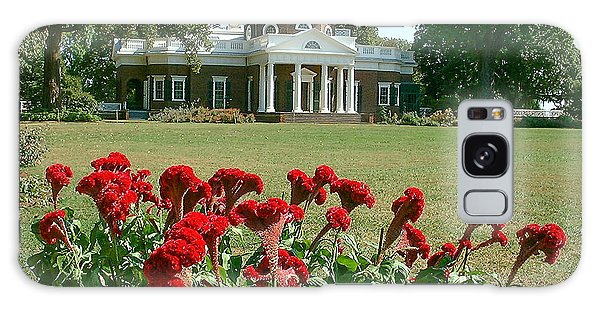 Monticello Cockscomb In Bloom Galaxy Case by David Nichols