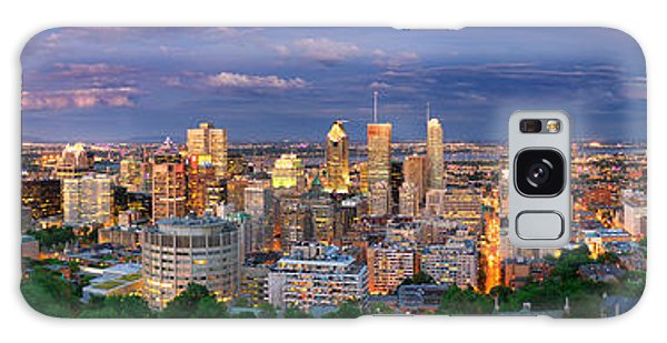 Montreal By Night From The Mount Royal Lookout Galaxy Case