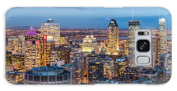 Montreal Panorama Galaxy Case by Mihai Andritoiu