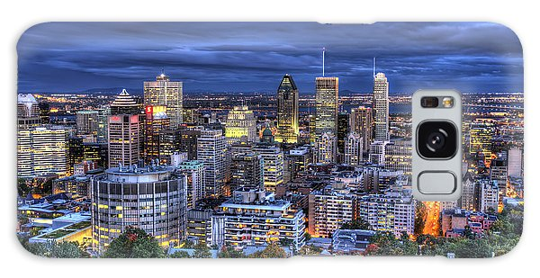 Montreal Skyline At Dusk Galaxy Case by Shawn Everhart