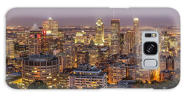 Montreal Skyline At Night Galaxy Case