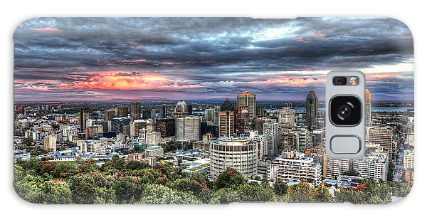 Montreal Skyline Sunset From Mount Royal Galaxy Case