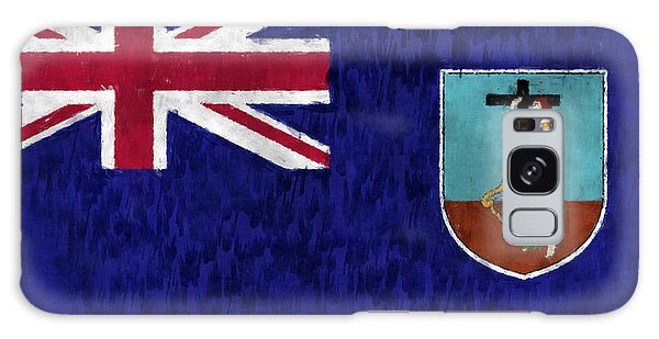 Bahamas Galaxy Case - Montserrat Flag by World Art Prints And Designs