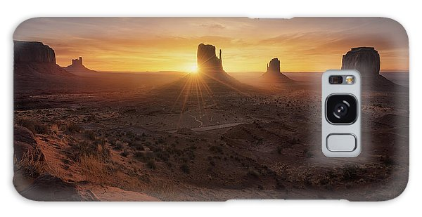 National Monument Galaxy Case - Monument Sunrise. by Juan Pablo De