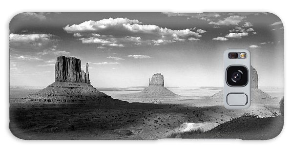 Monument Valley In Black And White Galaxy Case