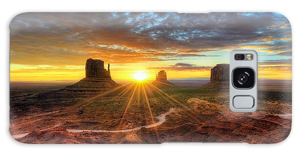 Monument Valley Sunrise Galaxy Case