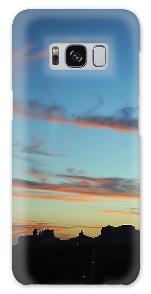 Monument Valley Sunset 3 Galaxy Case