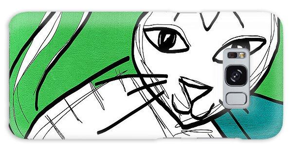 Tabby Galaxy Case - Moody Cat- Pop Art by Linda Woods