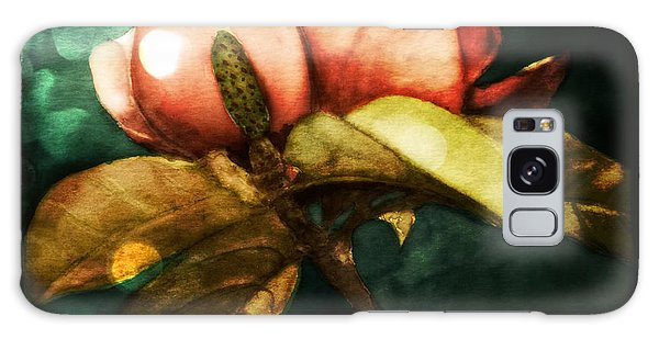 Moody Magnolia Galaxy Case by Therese Alcorn