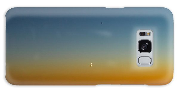 Moon And Venus I Galaxy Case by Marco Oliveira