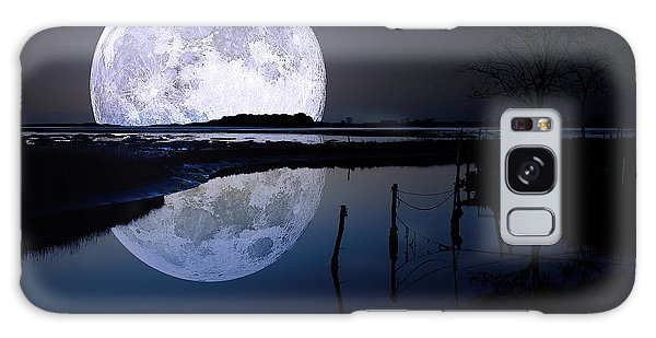 Moon Galaxy Case - Moon At Night by Gianfranco Weiss