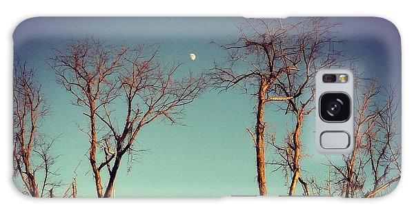 Moon Between The Trees Galaxy Case by Kerri Farley