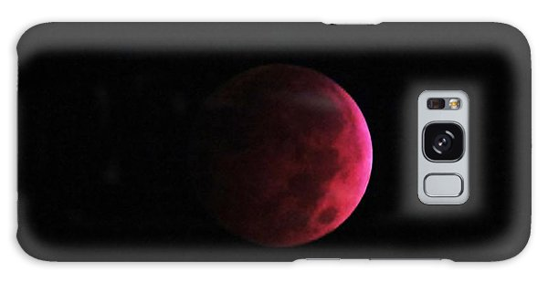 Moon Eclipse Blood Red Galaxy Case by Judy Via-Wolff