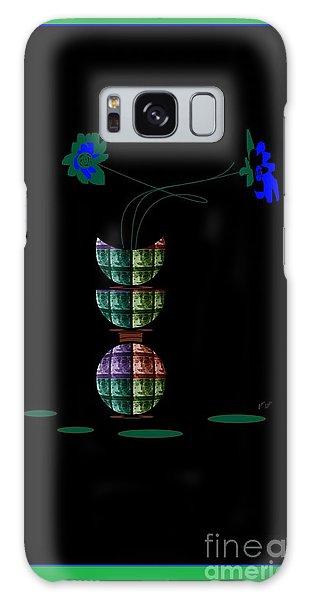 Moon Flower 1 Galaxy Case by Ann Calvo