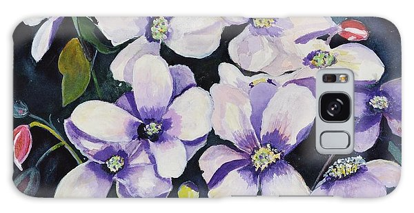 Moon Flowers Galaxy Case