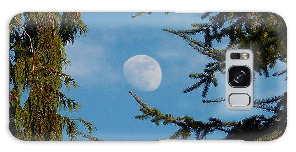 Moon Framed By Trees Galaxy Case