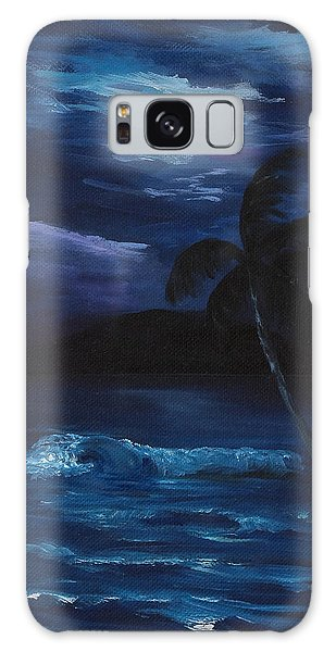 Moon Light Tropics Galaxy Case by Darice Machel McGuire