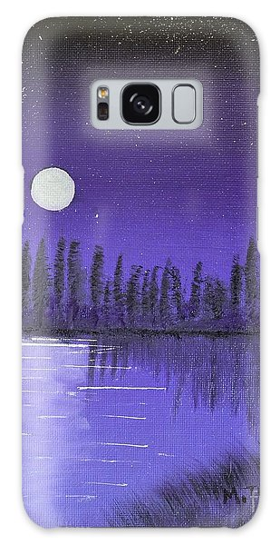 Moon Lit Bay Galaxy Case