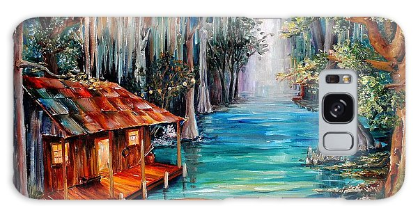 Reflections Galaxy Case - Moon On The Bayou by Diane Millsap