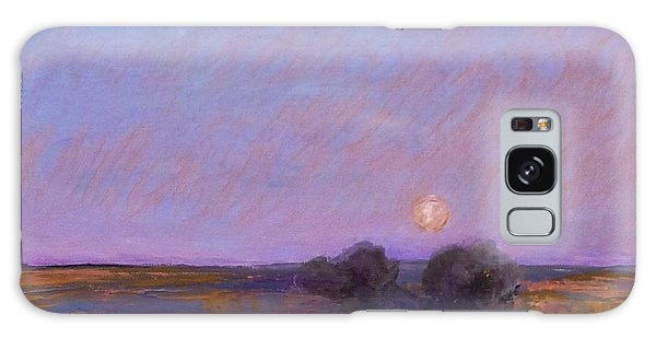 Moon On The Horizon Galaxy Case by Helen Campbell