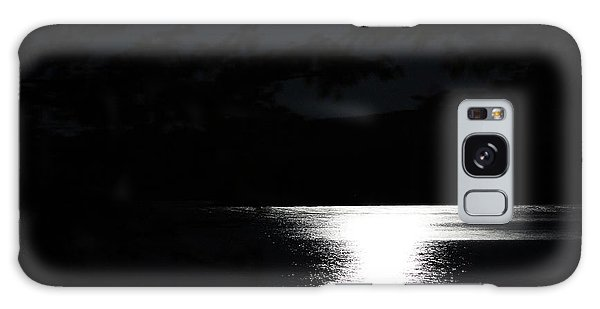 Galaxy Case featuring the photograph Moon On Waterton Lake by Ann E Robson