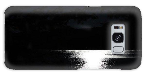 Moon On Waterton Lake Galaxy Case