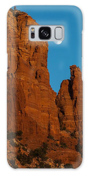 Moon Over Chicken Point Galaxy Case