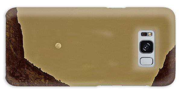 Moon Over Crag Utah Galaxy Case