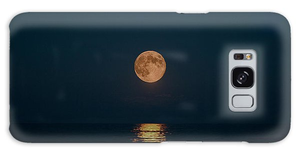 Moon Over Lake Of Shining Waters Galaxy Case by Barbara McMahon