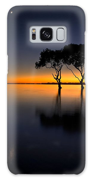 Moon Over Mangrove Trees Galaxy Case