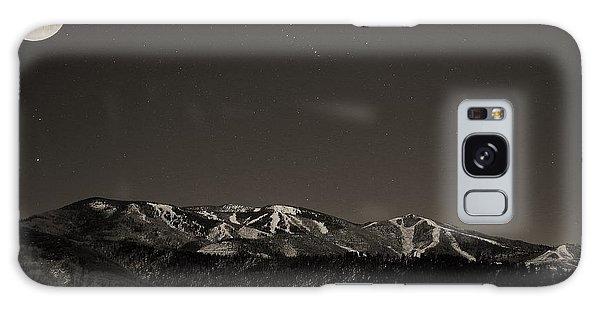Moon Over Mt. Werner Galaxy Case