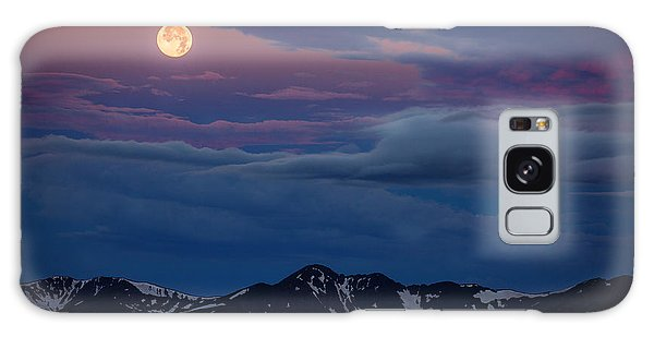 Moon Over Rockies Galaxy Case