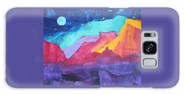 Moon Over Sedona Galaxy Case by Nancy Jolley