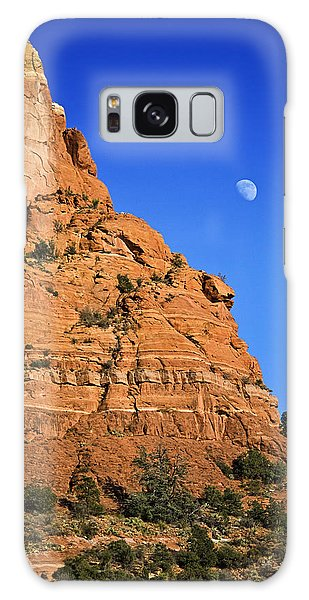 Moon Over Sedona Galaxy Case