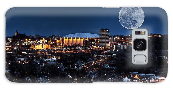 Moon Over The Carrier Dome Galaxy Case by Everet Regal