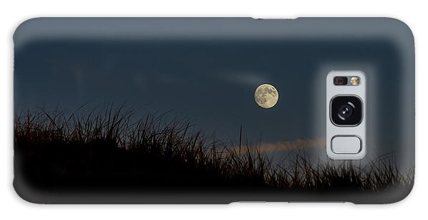 Moon Over The Dunes Galaxy Case
