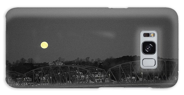 Moon Over The Steel Bridge Galaxy Case