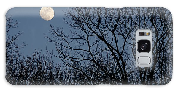 Moon Over Trees Galaxy Case by Larry Bohlin