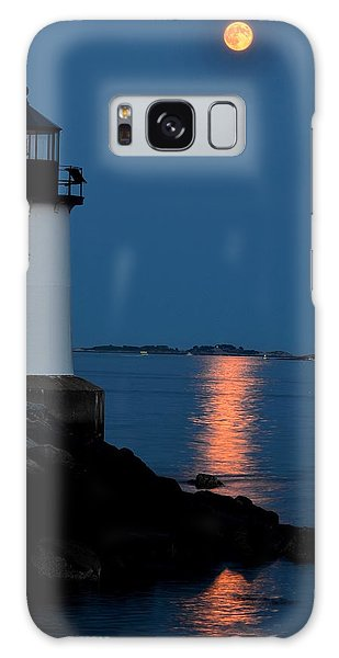 Moon Over Winter Island Salem Ma Galaxy Case