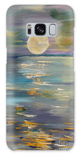 Moon Over Your Town/reflexion Galaxy Case by PainterArtist FIN