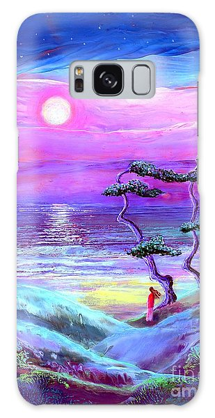 Moon Pathway,seascape Galaxy Case