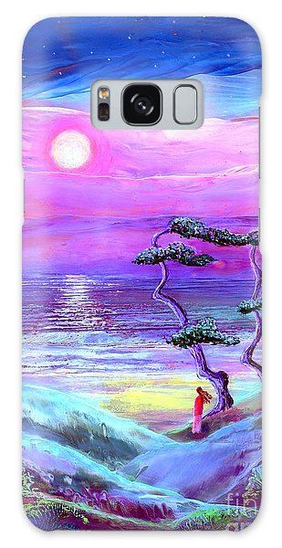 Tranquil Galaxy Case - Moon Pathway,seascape by Jane Small
