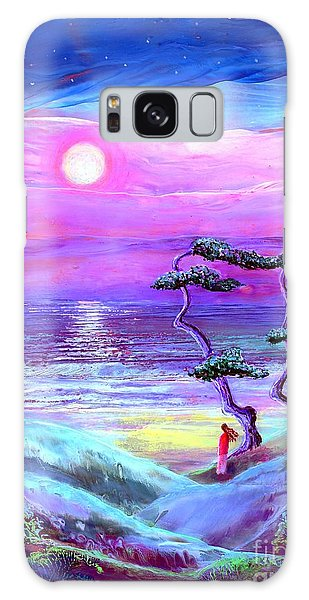 Dunes Galaxy Case - Moon Pathway,seascape by Jane Small