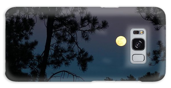 Moon Rise In Twilight Galaxy Case