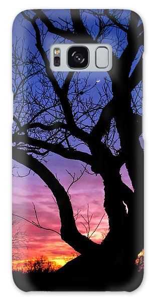 Moon Rise Galaxy Case