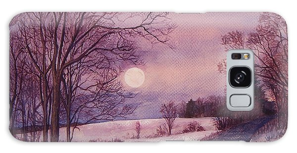 Moon Rising Galaxy Case by Joy Nichols