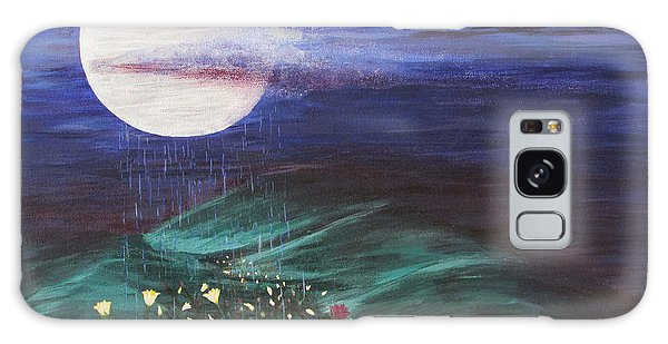 Moon Showers Galaxy Case by Cheryl Bailey