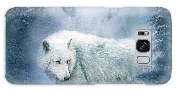 Moon Spirit 2 - White Wolf - Blue Galaxy Case