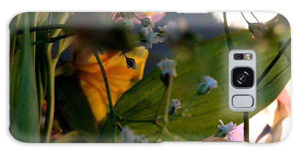 Moonlight Flowers Galaxy Case by Susan Townsend