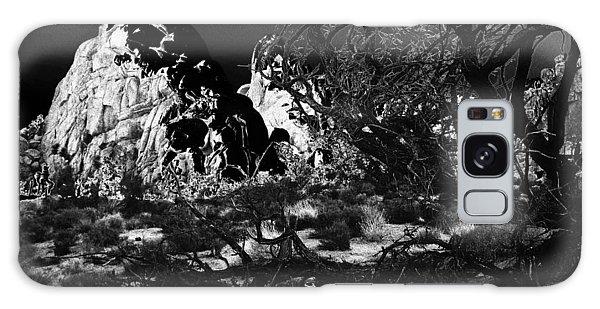 Moonlight On Rocks Galaxy Case by Carolina Liechtenstein